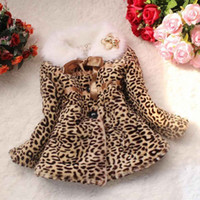 Wholesale S5Q Classic Baby Toddler Girls Leopard Coat Winter Warm Jacket Snowsuit AAACLU