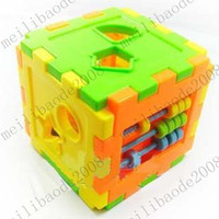 Wholesale NEW Intellect box cute shape plug intellectual box small hand with cerebellar cognitive box moving toy building blocks MYY7769