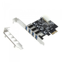 Wholesale 4 Port SuperSpeed USB PCI Express Controller Card Adapter pin IDE Power Connector Low Profile