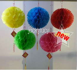 10 Inch Pure Color Waterproof Paper Lantern Flower Ball Festival Celebration Wedding Decoration(red pink yellow blue green)