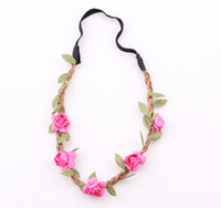 Bride Boho Flower Headband Festival Wedding Floral Garland H...