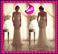 2014 Anna Campbell Luxury Tulle Mermaid Wedding Dresses Swee...