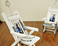Wholesale Wooden arts Card clips Chair style Mobile phone accessories placement home decoration memo clips note clips