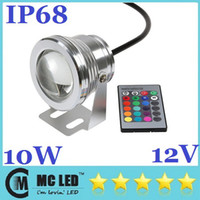 Wholesale 10W V Led Floodlight Warm Cool White RGB Outdoor Led Underwater Lights Waterproof IP68 Garden Lights