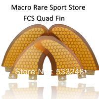Wholesale Macro Rare FCS quad surf fins new arrival fiberglass honeycomb fcs quad fins set FCS surf fin