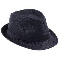 Wholesale Unisex Straw Panama Fedora Hats Soft Stingy Brim Casual Travel Sun Caps ZDS2