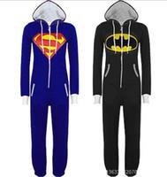 adult superman pajamas - Mens Ladies Superman Onesie Adult Animal Onesies Onsie Kigurumi Pyjamas Pajamas cosplay Costumes Christams Gifts S300 S M L XL XL