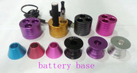 Wholesale Colorful Ego Battery metal Dock Base tray Colorful Dock Holder for ego joyetech batteries evic Ego C twist Battery
