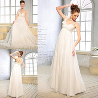 Trumpet/Mermaid Reference Images Sweetheart Sheath Very Cheap Floor Length Straps Chiffon Grecian Wedding Dress WDB1371