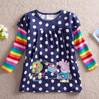 Girl Spring / Autumn Standard 2014 new Girls Peppa Pig George Pig t shirt pure Cotton children long sleeve clothes