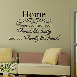 Wholesale Quote Words Home Friends Family Decor Wall Sticker Vinyl Decal Art Mural DIY