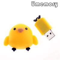 Wholesale Hot Plastic Toki Tori Real Capacity GB GB GB Chicken Run Shape USB Flash Drives Memory Sticks Pen Drives US0180
