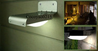Wholesale New Solar Powered LED Outdoor Lighing Lamp Wall Light Ray Sound Sensor Energy saving Garden LEDs
