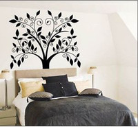Wholesale Cute Owl Eye Style Tree Wall Sticker Decals Decor Vinyl Reusable Kids Nursery i8
