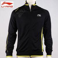 Wholesale Men Badminton Jacket Lining Badminton Cardigan Black Jacket Size M LiNing AWDF343