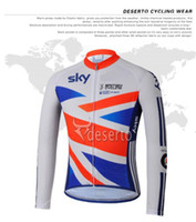 Full Breathable Men British Cycling Team jersey Tour de France Sky Bicycle Long sleeve fleece jersey PiNARELLO Pro winter Bike clothing cycling kit C00J