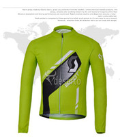 Full team wear - Scott Team wear Green long sleeve cycling shirt Anti Wrinkle cycling skinsuit Professional Jersey Winter long sleeve wear C00J