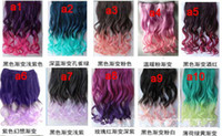 Wholesale 1pcs curl clip in hair extension women hair colors one piece for full head long wavy curly hair extension Min Order can choose color