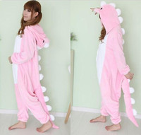 Wholesale Mens Ladies Pink Onesie Adult Animal Onesies Onsie Kigurumi Pyjamas Pajamas cosplay Costumes Christams Gift S337 S M L XL XL