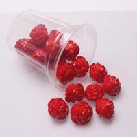 Wholesale Chunky Jewelry mm Opaque Red Acrylic Double Rose Flower Beads Big Size Plastic Beads bag A07