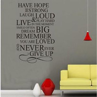 Wholesale 90 CM HAVE HOPE INSPIRATIONAL VINYL WALL DECALS STICKER ART Home Decor