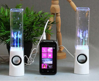 Wholesale Dancing Water Speaker Active Portable Mini USB LED Light Speaker For iphone ipad PC MP3 MP4 PSP
