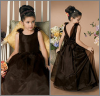 Cheap Reference Images flower girl dress Best Girl Bow pageant dresses