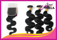 Peruvian Hair honest wholesale - Hot Sale Honest Length And Better End Unprocessed Mixed Length Peruvian Virgin Human Hair Weft Closure Hair Weave Body Wave
