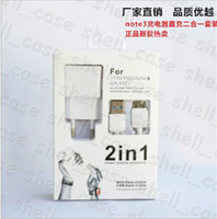 For Samsung cable + wall charger  Christmas 2in1 Micro USB Sync Cable+US EU Wall Home travel Charger For Samsung Galaxy Note 3 N9002 N9006 N9008 N9009 Retail Package free DHL