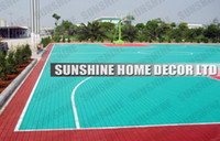 Wholesale Red PP Anti Slip Indoor Basketball Court Surface For All Weather Floor