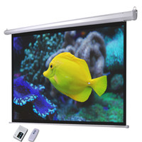 Wholesale 100 quot Electric Screen Matte White Projector Projection RC Auto Remote Control Motorized projection screen