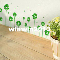 Wholesale Little daisy tijuexian waistline stickers kitchen cabinet glass sliding door ofhead wall stickers