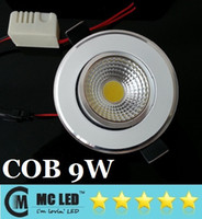 Wholesale 2014 New Arrival W COB Led Downlights Angle Warm Pure Cool White Dimmable Led Fixture Ceing Light V CE ROHS CAS UL