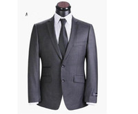 Wholesale Top quality two button business suits for men elegant brand wedding suit wool coat pants
