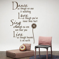PVC art sing - Dance amp Love amp Sing amp Live Wall Quotes Decals Removable Sickers Decor Vinyl Art