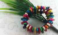 Wholesale ECO Bracelet Coconut Shell Colorful For Women Men B7