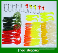 Wholesale sample order Fishing lures soft bait Lead head hook Fish Baits combination Fast Free Shpping