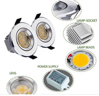 3W air vac - vac Epistar chips w cob led downlight dimmable reflective facemask air convection radiator