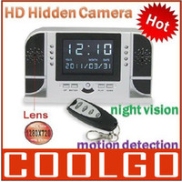 None   Fashion New 1280*720 IR LED Night Vision V1 Clock Hidden Spy Camera Digital Video Recorder Mini DV DVR for Home Office Black