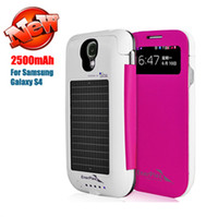 solar phone case - Solar Battery Case Mobile Charger mAh Back Up Power Bank Cell phone Protector For Samsung Galaxy i9500 S4 S IV