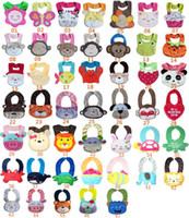 Wholesale Hot Sale New Children s D Cartoon Towel Baby Bibs layer waterproof baby Feeding Animal Button bibs colors feedings