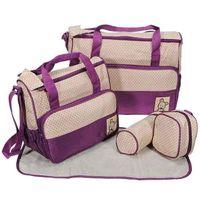 Wholesale S5Q Baby Changing Diaper Nappy Bag Mummy Mother Handbag multifunctional set AAACQE