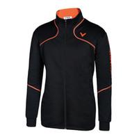 Wholesale Men Badminton Jacket Victor Badminton Jacket Wicking Antistatic Victor J
