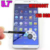 """5.7 Android 1280x720 10pcs 5.7"""" MTK6589T Quad Core Note 3 N9002 Cell Phone 3G WCDMA GPS Android 4.2 Mobile Phone Air Command Note3 N9000 N900 dual Micro SIM"""