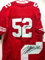 Wholesale Patrick Willis Autographed Jerseys Red ers Mens American Football Jerseys Discount Stitched Outdoor Athletic Apparel Jersey Mix Order