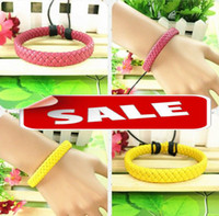 Charm Bracelets fashion jewelry dropship - Fashion leather weaving bracelet men women unisex PU bracelets wristband bangle cuff charm jewelry Boutique dropship