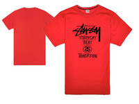 Wholesale Hip hop star tidal wave of brand new joint Original brand stu Stussy T shirt for men and women