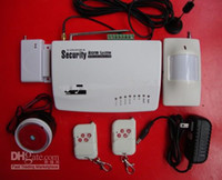 Wholesale HOT SALE GSM HOME BURGLAR ALARM SYSTEM New Version More Powerful Double Antenna Real Voice Prompt
