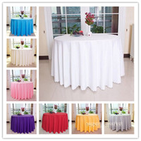Wholesale Round Polyester White Wedding Banquet Tablecloth Inch Inch Inch Inch