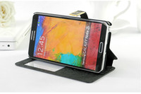 Wholesale Cell phone covers S View Flip Wallet Leather Case Cover With Stand For Samsung Galaxy Note N9000 from cn kingtop